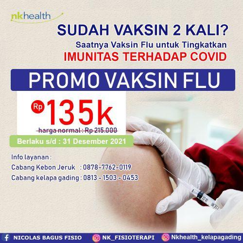 vaksin flu harga promo